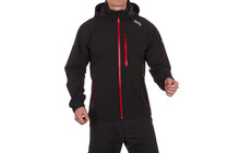 Nord Blanc M Membrane Light Softshell 3LL Jkt Stretch black/red